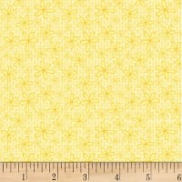 P&B Textiles Basically Hugs Flannel Daisy Yellow