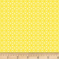P&B Textiles Basically Hugs Flannel Hexies Yellow
