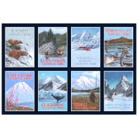 "P&B Textiles Alaska's National Parks 24"" Panel Multi"