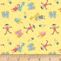 P&B Textiles Welcome Baby Small Baby Items Yellow