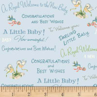 P&B Textiles Welcome Baby Congrats Baby Blue