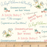 P&B Textiles Welcome Baby Congrats Baby Multi