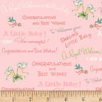 P&B Textiles Welcome Baby Congrats Baby Pink