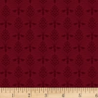 P&B Textiles Christmas Bird Song Texture Dark Red