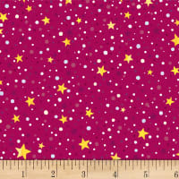 P&B Textiles Winter Lights Star Dot Red