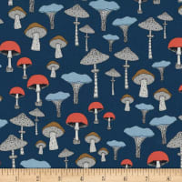 Michael Miller Forest Gifts Champignons Teal