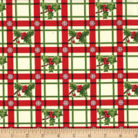 Michael Miller Happy Holly-Days Holly-Day Plaid Winter