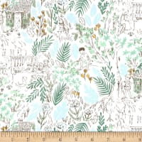 Michael Miller Peter Pan Stretch Jersey Knit The Little House Fern