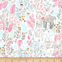 Michael Miller Peter Pan Stretch Jersey Knit The Little House Bloom