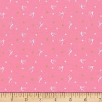 Michael Miller Peter Pan Stretch Jersey Knit Tink Dusty Rose