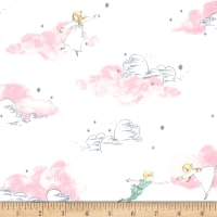 Michael Miller Peter Pan Stretch Jersey Knit Peter and Wendy Blossom