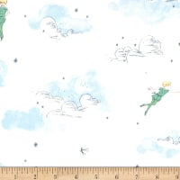 Michael Miller Peter Pan Stretch Jersey Knit Peter and Wendy Cloud