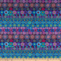 Kaffe Fassett Collective for FreeSpirit Row Flowers Blue