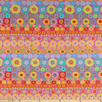 Kaffe Fassett Collective for FreeSpirit Row Flowers Pink