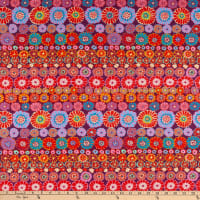 Kaffe Fassett Collective for FreeSpirit Row Flowers Red
