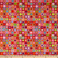 Kaffe Fassett Collective for FreeSpirit Tiddlywinks Red