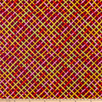 Kaffe Fassett Collective  for FreeSpirit Mad Plaid Maroon