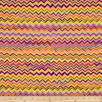 Kaffe Fassett Collective  for FreeSpirit Zig Zag  Gold