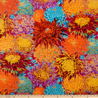 Kaffe Fassett Collective  for FreeSpirit Japanese Chrysanthemum Autumn