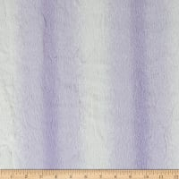 Shannon Minky Luxe Cuddle Angora Lavender/White