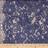 Telio Flora Corded Cotton Nylon Lace Floral Midnight Blue