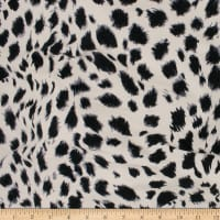 Telio Dakota Rayon Jersey Knit Animal Print Ecru/Black