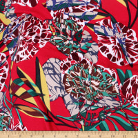 Telio Dakota Rayon Jersey Knit Floral Red