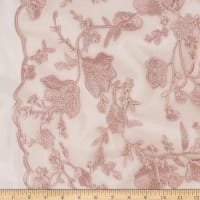 Telio Lena Lace Mesh Embroidery Floral Blush