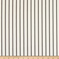 Telio Bloom Stretch Cotton Sateen Stripe White Black