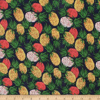 Telio Verona Cotton Rayon Voile Pineapple Navy