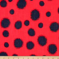 Telio Verona Cotton Rayon Voile Dot Red/Navy