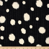 Telio Verona Cotton Rayon Voile Dot Black/Ecru