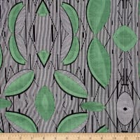 Telio Verona Cotton Rayon Voile Tribal Stripe Green/Black