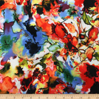 Telio Paola Pique Knit Floral Print Red Royal