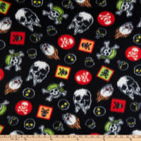 Polar Fleece Skulls Black