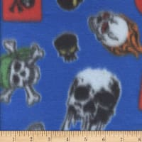Polar Fleece Skulls Royal
