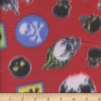 Polar Fleece Skulls Red