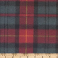 Polar Fleece Tra Plaid Hunter/Wine
