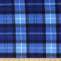 Polar Fleece Tra Plaid Blue