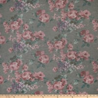 California Stretch French Terry Rose Garden Grey/Mauve