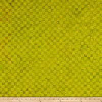 Island Batik Check It Out Check Lemon Lime