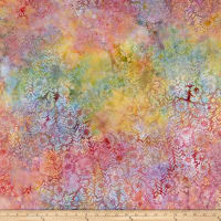 Island Batik Ditty Flower Field  Moonstone