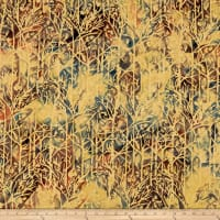 Island Batik Elk Lodge Twigs  Buttercup