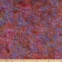 Island Batik Gypsy Rose Flower Field  Sherbet