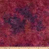 Island Batik Gypsy Rose Paisley Outling Cranberry Sauce