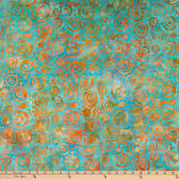 Island Batik Soul Song Circles Teal