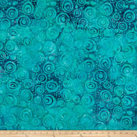 Island Batik Soul Song Circles  Cool Waters
