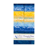 "Island Batik French Blue 40 Piece 2.5"" Strip"