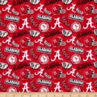 NCAA- Alabama 1178 Tone on Tone Red/White/Gray/Black