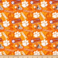 NCAA Clemson Tigers 1178 Tone on Tone Orange/Purple/White